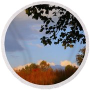Clouds Clearing Round Beach Towel