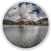 Clouds Form Over Lake Helen Round Beach Towel