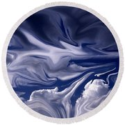 Clouds In Chaos Round Beach Towel