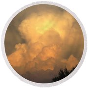 Clouds In The Evening II Round Beach Towel