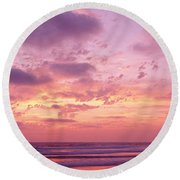 Clouds In The Sky At Sunset, Pacific Round Beach Towel
