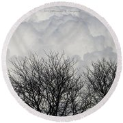 Clouds Named Cotton Round Beach Towel