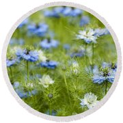 Clouds Of Blue Round Beach Towel