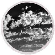 Clouds Of Freycinet Bw Round Beach Towel