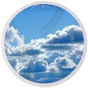Clouds Of Glory II Round Beach Towel