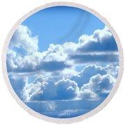Clouds Of Glory Round Beach Towel