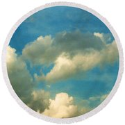 Clouds Of Tomorrow Round Beach Towel