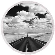Clouds On Top Round Beach Towel
