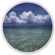 Clouds Over Bora Bora Round Beach Towel