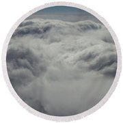 Clouds Over California Round Beach Towel