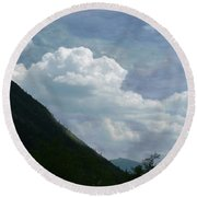 Clouds Over Crawford Round Beach Towel