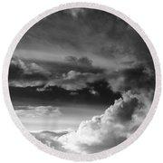 Clouds Over Loch Laich Round Beach Towel