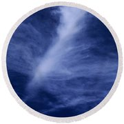Clouds Over Middle Palisades Glacier California Round Beach Towel