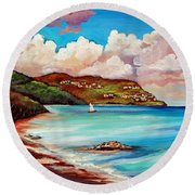 Clouds Over Paradise Round Beach Towel