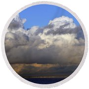 Clouds Over Portsmouth Round Beach Towel