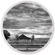 Clouds Over The Upper Midwest Round Beach Towel