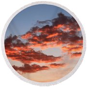 Clouds Shining Round Beach Towel