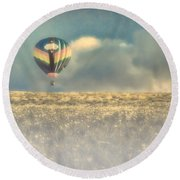 Clouds Within Clouds Round Beach Towel