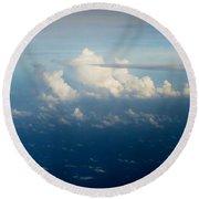 Cloudscape 1 Round Beach Towel