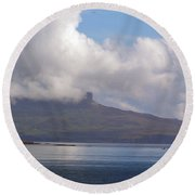 Cloudy Coast 1 Round Beach Towel
