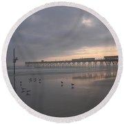 Cloudy Dawn 1  3-15-15 Round Beach Towel