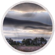 Cloudy Day 6 Round Beach Towel