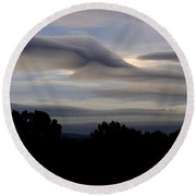 Cloudy Day 7 Round Beach Towel