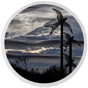 Cloudy Day 8 Round Beach Towel