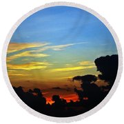 Cloudy Morning In Fort Lauderadale Round Beach Towel
