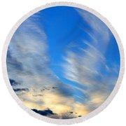 Cloudy Sunset Round Beach Towel