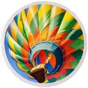Clovis Hot Air Balloon Fest 5 Round Beach Towel