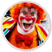Clown Round Beach Towel