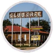 Club Cafe Round Beach Towel