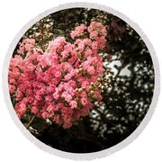 Clump Of Flowers Round Beach Towel