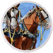 Clydesdale Duo Round Beach Towel
