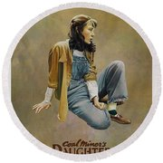 Coal Miner's Daughter  Round Beach Towel