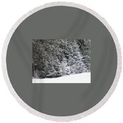 Coal Miner's Trail Round Beach Towel