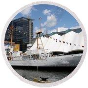 Coast Guard 37 - Baltimore Harbor Round Beach Towel