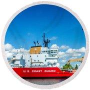 Coast Guard Cutter Mackinaw Round Beach Towel