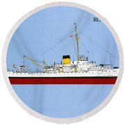 Coast Guard Cutter Taney Round Beach Towel