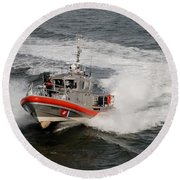Coast Guard In Action Round Beach Towel