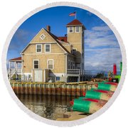 Coast Guard Station Round Beach Towel