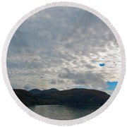 Coast N Clouds 1 Round Beach Towel