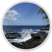 Coast Of Kauai Round Beach Towel