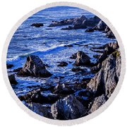 Coastal Cliffs Round Beach Towel