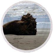 Coastal Driftwood Round Beach Towel