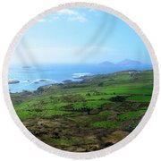 Coastal Ireland Round Beach Towel