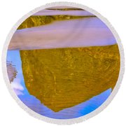 Coastal Landscape In Abstract 2 Round Beach Towel