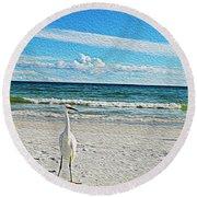 Coastal Life Round Beach Towel