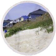 Coastal Living In Topsail Beach Nc Round Beach Towel